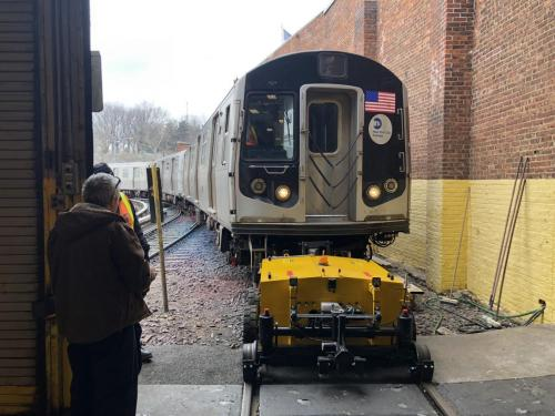 Power Pusher Rail Mover Moving NYC Subway Car 2