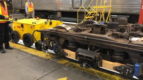 Power Pusher Rail Mover Moving Rail Truck