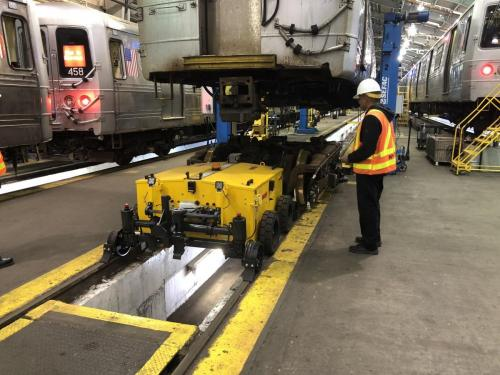 Power Pusher Rail Mover Under Rail Car