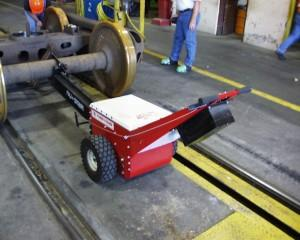 Power Pusher with Rail Car Attachment